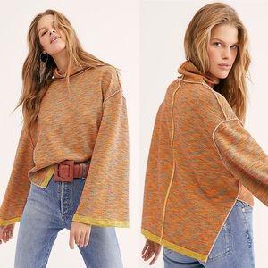 Free People Cotton Turtleneck Sweater Top